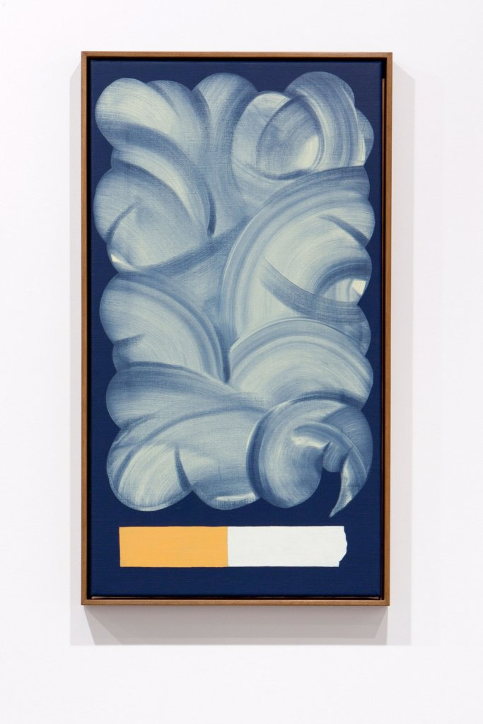 Mitch Cairns  <em>Cigarette (thinking)</em>  2011 oil on linen 45 x 83 cm