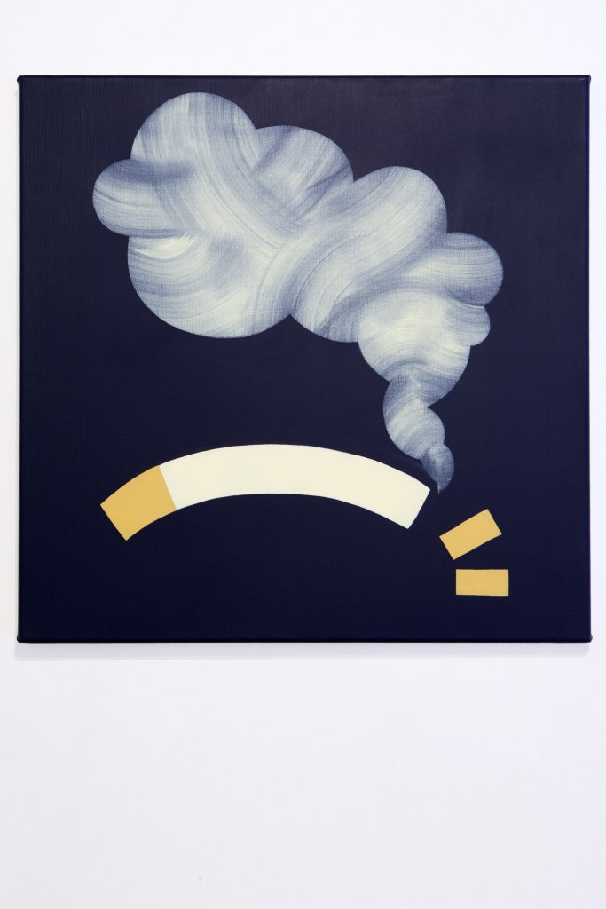Mitch Cairns <em>Sleepy Cigarette</em> 2011 oil on linen 31.5 x 31.5 cm